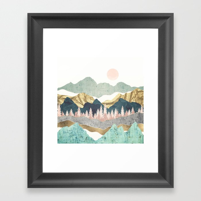 Summer Vista Gerahmter Kunstdruck