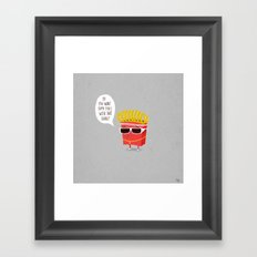 Douche Fries Framed Art Print