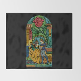 Beauty and The Beast - Stained Glass Throw Blanket