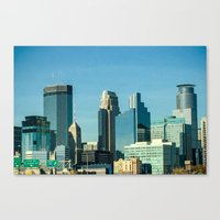 minnesota Canvas Prints featuring Minnesota by Lindsey Hart Photography