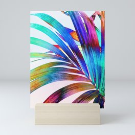 Multicolor Palm Leaf Mini Art Print