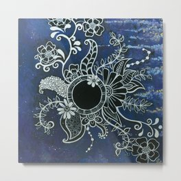 Blooming Blackhole Metal Print