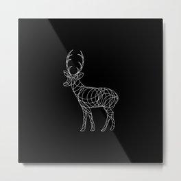 Geo Reindeer Metal Print