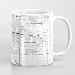 Minimal City Maps - Map Of Fresno, California, United States Coffee Mug