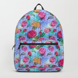 Australian Native Floral Print - Soft Colours Backpack