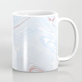 Blue Orange Marble Retro Marble Paper Coffee Mug