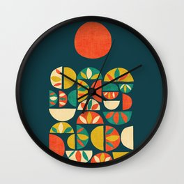 Jumpy Hills Wall Clock