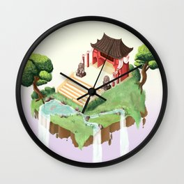 Temple in the sky Wall Clock
