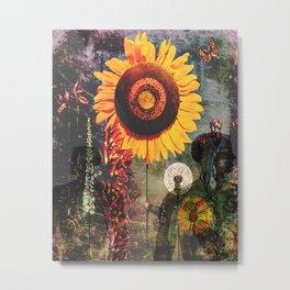 Flower Shadows Metal Print