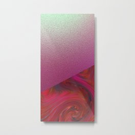 Ruby and Silver Impressions Metal Print