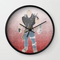 borderlands Wall Clocks featuring Borderlands 2 - Brick by LightningJinx