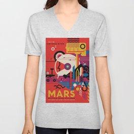 NASA Mars Exploration Program Multiple Tours Available; JPL Visions of the Future Poster Unisex V-Neck