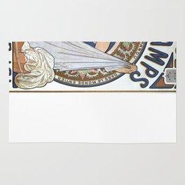 Vintage poster - Bleu Deschamps Rug
