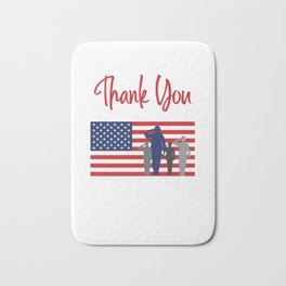 Thank You For Your Service Patriotic Veteran Bath Mat