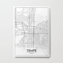 Minimal City Maps - Map Of Tempe, Arizona, United States Metal Print
