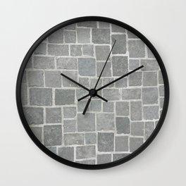 Cobblestones - Art Photography Wall Clock