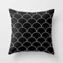 Scales - black and white Throw Pillow