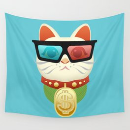 Lucky Kitty Wall Tapestry