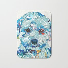Small Dog Art - Soft Love - Sharon Cummings Bath Mat