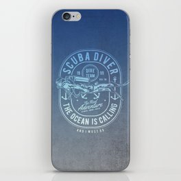 The Ocean Is Calling And I must Go Scuba Diving iPhone Skin