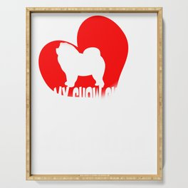 My Chow Chow is My Valentine Funny Chow Valentine's Design Serving Tray