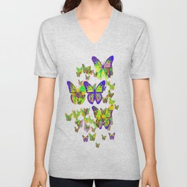 Monarch Butterflies Spring Melodies Abstract Unisex V-Neck