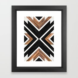 Urban Tribal Pattern No.1 - Concrete and Wood Framed Art Print