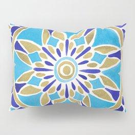 Royal Blue Mandala Pillow Sham