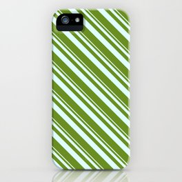 Light Cyan and Green Colored Lined/Striped Pattern iPhone Case