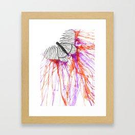 butterfly splash Framed Art Print
