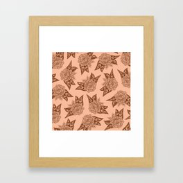 Cabbage Roses in Rust Framed Art Print