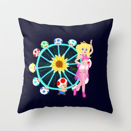 Princess Peach at EDC Throw Pillow