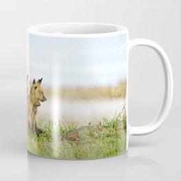 Curious Fox Pups Coffee Mug