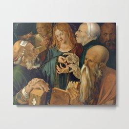 Albrecht Dürer - Jesus among the Doctors Metal Print