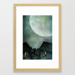 A Full Moon Night Framed Art Print
