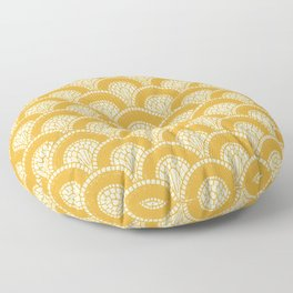Yellow Wabi Sabi Wave II Floor Pillow