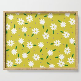 spring, yellow Serving Tray