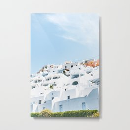 Lost in Santorini Greece Metal Print