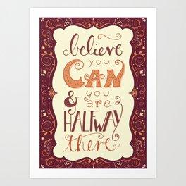 Believe - handlettering Art Print