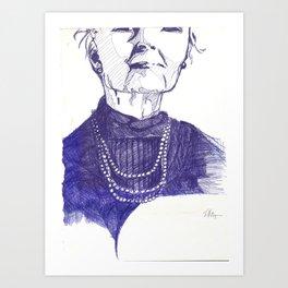 Sketch of a wom Art Print