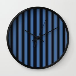 Blues nautical geometric vertical lines pattern for home decoration Wall Clock