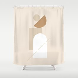 PADRONA DI SÉ - Be the Master of Yourself - Modern abstract art Shower Curtain