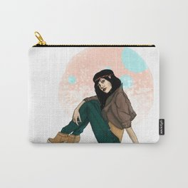 girl with hair band Carry-All Pouch