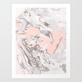 Effect Marble pink Art Print
