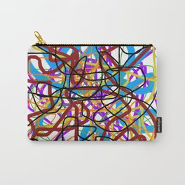 Rainbow Energy Abstract Digital Painting Carry-All Pouch