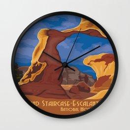 Vintage poster - Grand Staircase-Escalante Wall Clock