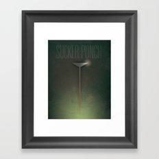 Smooth Minimal - Sucker Punch Framed Art Print
