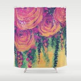 Dripping Golden Sunsets Shower Curtain