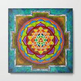 Intuition Sri Yantra II Metal Print