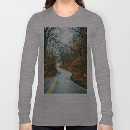 A Road in the Woods Long Sleeve T-shirt
